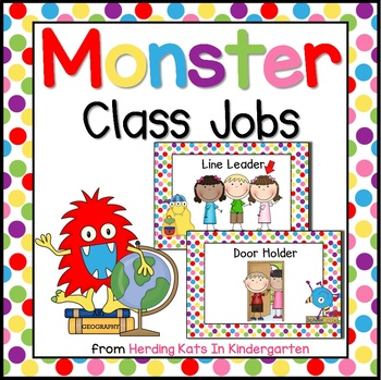 Monster Jobs for Monster Themed Classroom
