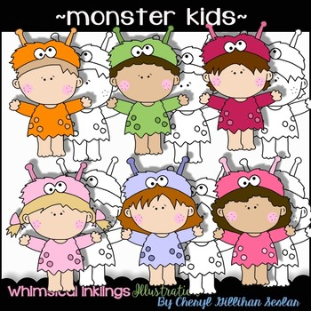 Monster Kids Clipart Collection