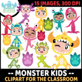 Monster Kids Clipart (Lime and Kiwi Designs)