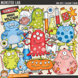 "Science Monster Clip Art: ""Monster Lab"""