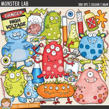 "Science Monster Clip Art: ""Monster Lab"""