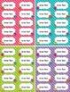 Monster Labels (2 sizes) - Editable