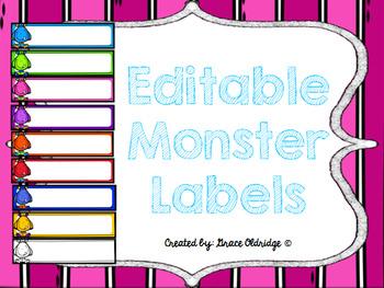 Monster Labels {Editable}