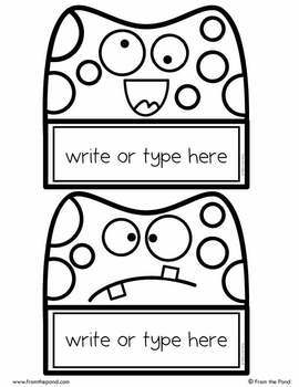 Monster Labels / Name Tags for the Classroom {Editable}