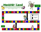 Monster Land Word Work Game Board and Cards