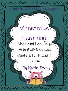 Monster Language Arts and Math Activities and Centers (K-1)