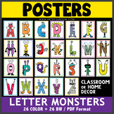 Monster Letter Posters: A-Z