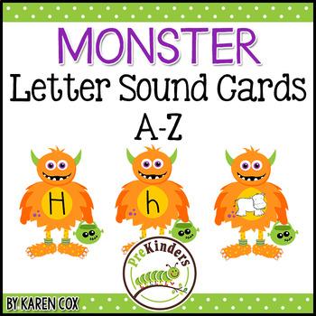 Monster Letter Sound Cards A-Z