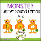Monster Letter Sound Cards A-Z