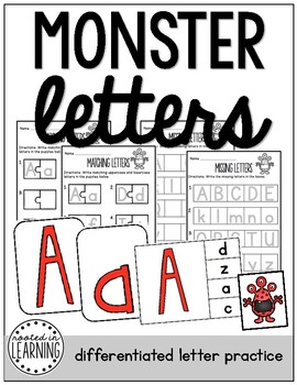 Monster Letters: Differentiated Letter Practice