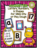 Monster Letters, Numbers & Shapes for Wikki Stix or Play Dough