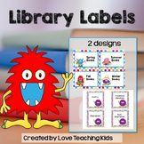 Monster Theme Classroom Decor Book Bin Labels for Classroom Library