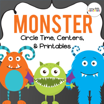 Monster Circle Time, Centers, & Printables PRE-K