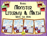 Monster Literacy and Math Bundle | Distance Learning