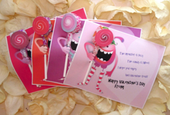 Monster Lollipop Valentines