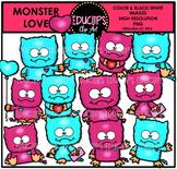 Monster Love Clip Art Bundle {Educlips Clipart}