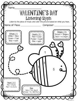 Valentine's Day Listening Glyphs