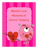 Mean, Median, Mode and Range Center Activity - Monster Love