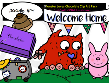 Monster Loves Chocolate Clip Art Pack