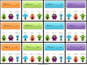 Monster METRIC SYSTEM Conversions Poke Game