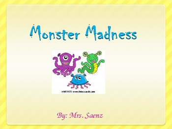Monster Maddness- Teach your class the school rules!