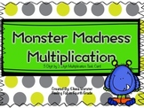 Monster Madness 3 Digit by 2 Digit Multiplication- Task Cards!