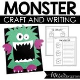 Halloween Craft Monster Craft Template and Writing Craftivity