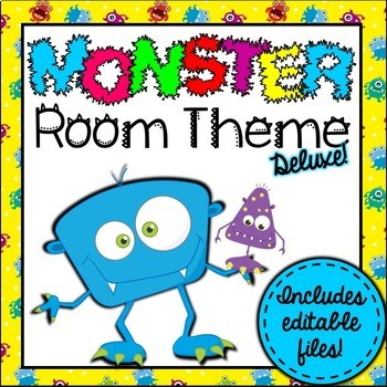 Monsters Room Theme Classroom Decor {Editable}