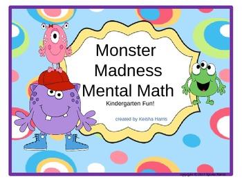 Monster Madness Mental Math For Kindergarten