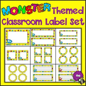 Monster Themed Classroom Label Set {Editable}