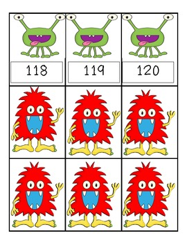 Monster Madness (Numbers 1-120) 1.NBT.1