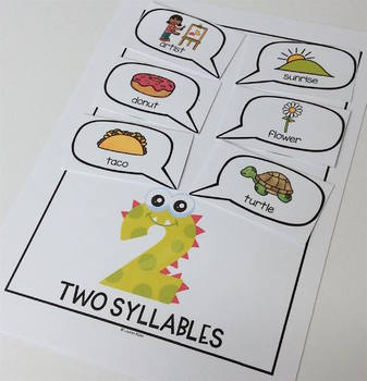 Monster Madness Syllable Sort! A card sorting activity for your little monsters
