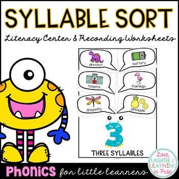 Monster Madness Syllable Sort! A card sorting activity for