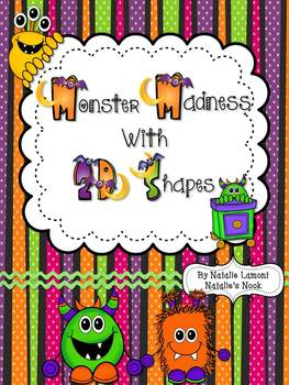 Monster Madness With 2D Shapes - 10 Math Centers