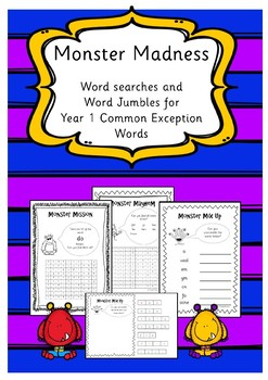 Monster Madness - Year 1 Common Exception Words