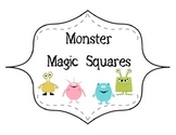Monster Magic Squares - 2 digit multiplication