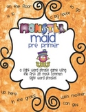 Monster Maid Pre Primer Sight Word Phrase Game with data collection