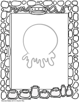 Monster Maker Printable Pages