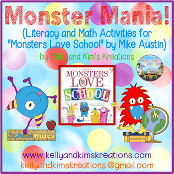 """Monster Mania! (Activities for """"Monsters Love School"""" by Mike Austin)"""