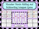 Monster Mania Adding and Subtracting Integers Game