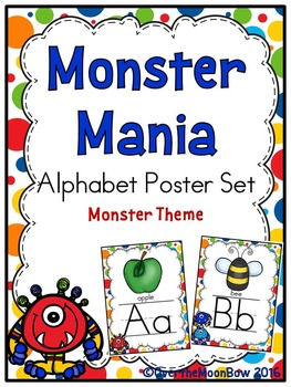 Monster Mania Alphabet Poster Set