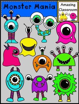 Monster Mania Clip Art Set - Commercial Use OK!