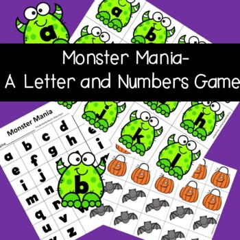 Monster Mania- Letters and Numbers Games for Halloween