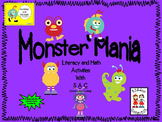 Monster Mania - Literacy and Math activities with SAC