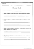 Monster Mania Worksheets