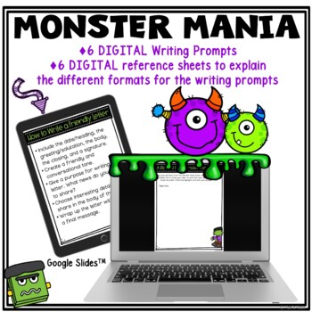 Writing Center and Tasks: Monster Theme