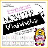 Back to School Activity- Monster Manners