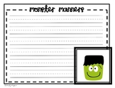 Monster Manners Handwriting Page