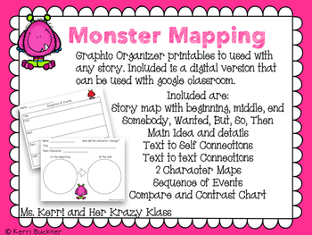 Monster Mapping: Reading Responses Printable and Digital