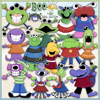 Monster Mash Clip Art - Monsters Clip Art - Aliens Clip Ar